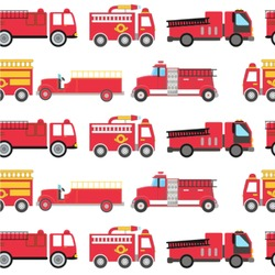 Firetrucks Wallpaper & Surface Covering