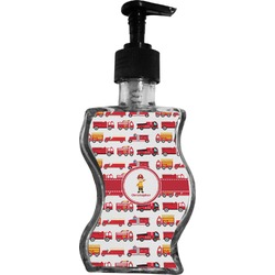 Firetrucks Wave Bottle Soap / Lotion Dispenser (Personalized)