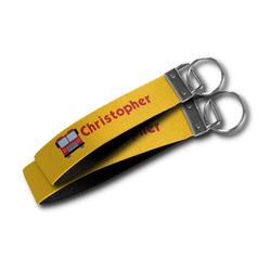 Firetrucks Wristlet Webbing Keychain Fob (Personalized)