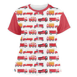 Firetrucks Women's Crew T-Shirt (Personalized)