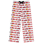 Firetrucks Womens Pajama Pants (Personalized)