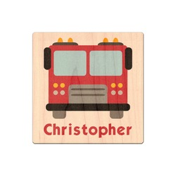 Firetrucks Genuine Maple or Cherry Wood Sticker (Personalized)