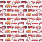 Firetrucks Wrapping Paper (Personalized)