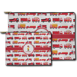 Firetrucks Zipper Pouch (Personalized)