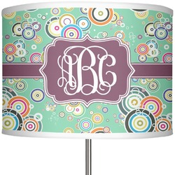 "Colored Circles 13"" Drum Lamp Shade (Personalized)"
