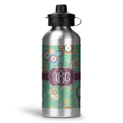 Colored Circles Water Bottle - Aluminum - 20 oz (Personalized)