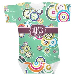 Colored Circles Baby Bodysuit (Personalized)