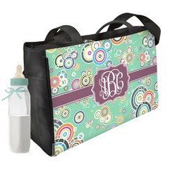 Colored Circles Diaper Bag (Personalized)