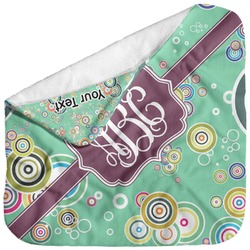 Colored Circles Baby Hooded Towel (Personalized)