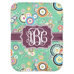 Colored Circles Baby Swaddling Blanket (Personalized)