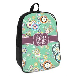Colored Circles Kids Backpack (Personalized)