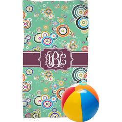 Colored Circles Beach Towel (Personalized)