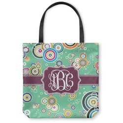 Colored Circles Canvas Tote Bag (Personalized)