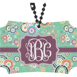 Colored Circles Rear View Mirror Ornament (Personalized)