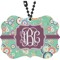 Colored Circles Rear View Mirror Charm (Personalized)