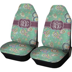 Colored Circles Car Seat Covers (Set of Two) (Personalized)