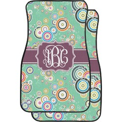Colored Circles Car Floor Mats (Front Seat) (Personalized)