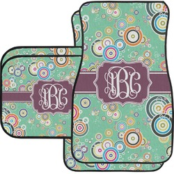 Colored Circles Car Floor Mats (Personalized)