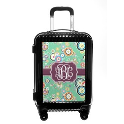 Colored Circles Carry On Hard Shell Suitcase (Personalized)