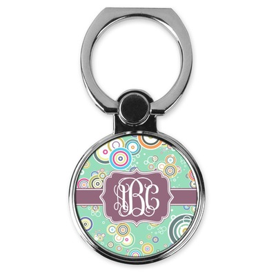 Colored Circles Cell Phone Ring Stand & Holder (Personalized)