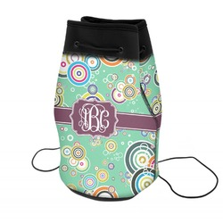 Colored Circles Neoprene Drawstring Backpack (Personalized)