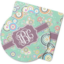Colored Circles Rubber Backed Coaster (Personalized)