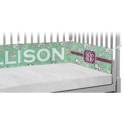 Colored Circles Crib Bumper Pads (Personalized)
