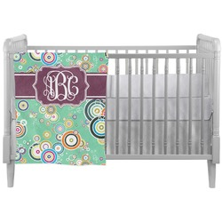 Colored Circles Crib Comforter / Quilt (Personalized)