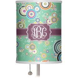 "Colored Circles 7"" Drum Lamp Shade (Personalized)"