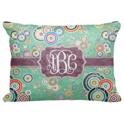 "Colored Circles Decorative Baby Pillowcase - 16""x12"" (Personalized)"