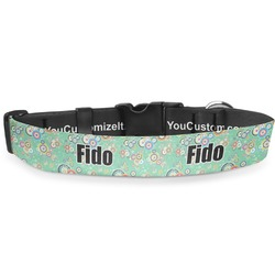 Colored Circles Deluxe Dog Collar (Personalized)