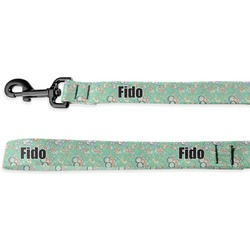 Colored Circles Deluxe Dog Leash (Personalized)