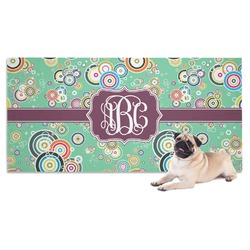 Colored Circles Pet Towel (Personalized)