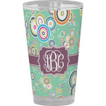 Colored Circles Drinking / Pint Glass (Personalized)