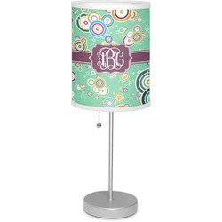 "Colored Circles 7"" Drum Lamp with Shade (Personalized)"