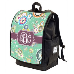 Colored Circles Backpack w/ Front Flap  (Personalized)
