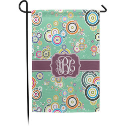 Colored Circles Garden Flags With Pole - Single or Double Sided (Personalized)