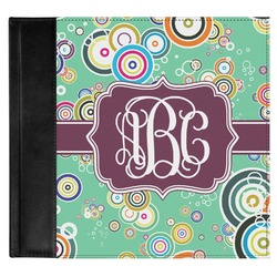 Colored Circles Genuine Leather Baby Memory Book (Personalized)