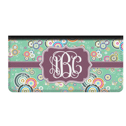 Colored Circles Genuine Leather Checkbook Cover (Personalized)