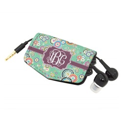 Colored Circles Genuine Leather Cord Wrap (Personalized)