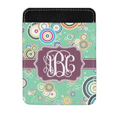 Colored Circles Genuine Leather Money Clip (Personalized)