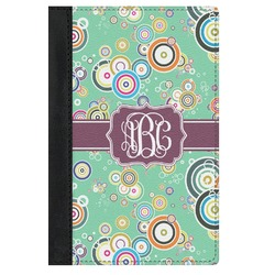 Colored Circles Genuine Leather Passport Cover (Personalized)