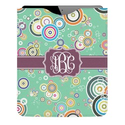 Colored Circles Genuine Leather iPad Sleeve (Personalized)