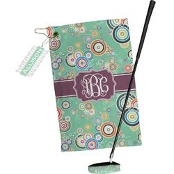 Colored Circles Golf Towel Gift Set (Personalized)