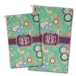 Colored Circles Golf Towel - Full Print w/ Monogram