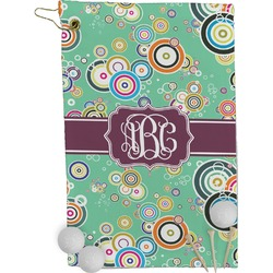 Colored Circles Golf Towel - Full Print (Personalized)