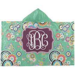 Colored Circles Kids Hooded Towel (Personalized)