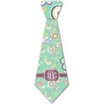 Colored Circles Iron On Tie - 4 Sizes w/ Monogram