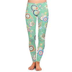 Colored Circles Ladies Leggings (Personalized)