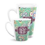 Colored Circles Latte Mug (Personalized)